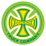 "Independent Green / Yellow Sticker 3"" Round"