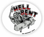 "Independent Hell Bent Sticker - 5"" x 4"" Oval"
