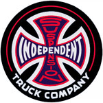 "Independent Suspension Sketch 1.5"" Sticker Black/Red"