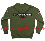 Independent OGBC Zip Hoodie Heather Army Green / Large