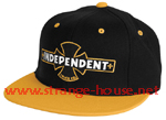 Independent Painted B/C Adjustable Starter Hat / OS -Black/Yllw