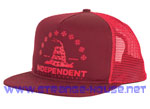 Independent USA Republic Trucker Mesh Hat Red / Adjustable OS
