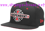 Independent Vintage B/C New Era Hat 7 3/8 Black & Red