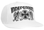 Independent Falcon Flex Fit Cap White L/XL