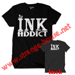 Ink Addict Anchor T-Shirt Black / Large