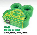 Kryptonics Star-Trac Classic Wheels 75mm / Green / 86a