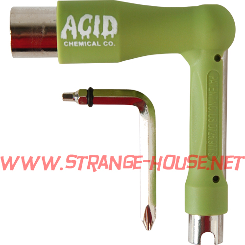 Acid Chemical Co. Space Tool / 7 - Tools in One / Green - Click Image to Close