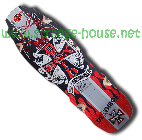 "Deathbox Skateboards Dave Hackett Rocket Deck - Red / 9.875"" - Click Image to Close"