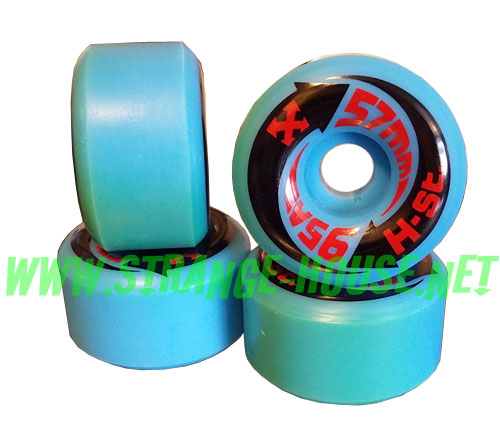 H-Street Arrows 57mm / 95a - Blue - Vintage Wheels - Discolored - Click Image to Close