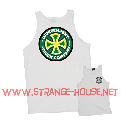 Independent Colors Tank Top / White - XXL - Click Image to Close
