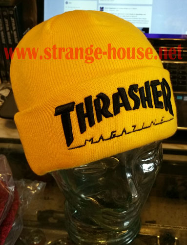 Thrasher Embroidered Logo Beanie Yellow   Black e3472403c4e