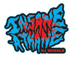 "OJ Wheels Insane-A-Thane 3"" Sticker - Blue / Red"