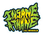 "OJ Wheels Insane-A-Thane 3"" Sticker - Green / Yellow"