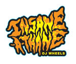 "OJ Wheels Insane-A-Thane 3"" Sticker - Orange / Yellow"