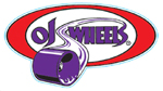 "OJ Wheels 4.75"" Oval Sticker Red / Purple"