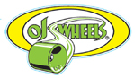 "OJ Wheels 4.75"" Oval Sticker Yellow / Green"