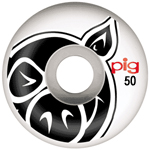 "Pig ""Pig Head"" 50mm / 101a White Wheels"