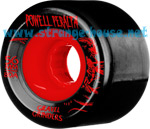 Powell Peralta Gravel Grinders 56mm / 80a Black-Red Wheels