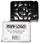 "Mini Logo 1/4"" Hard Risers (Set of 2)"