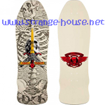 "Powell Peralta Skull and Sword Geegah 9.75"" Deck - Bone White"