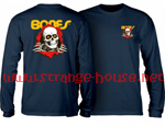 Powell Peralta Ripper Long Sleeve T-Shirt Navy / XXL