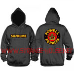 Powell Peralta Supreme Mid-Weight Pullover Hoodie Charcoal / Lg