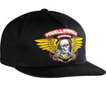 Powell Peralta Winged Ripper Snapback Cap Black / One Size