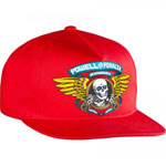 Powell Peralta Winged Ripper Snapback Cap Red / One Size