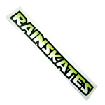 "Rainskates 15.5"" Large Clear Vinyl Sticker"