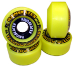 Rainskates Yellow Jackets 98a Double Conical Wheels