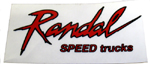 "Randal Trucks Clear Vinyl 4"" x 2"" Sticker"