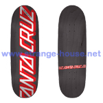 "Santa Cruz 1990 Strip 8.75"" x 31.6"" - Charcoal Stain Deck"