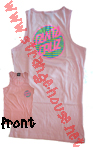 Santa Cruz Awesome Dot Tank T-Shirt Pink Juniors X-Large