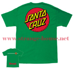 Santa Cruz Classic Dot T-Shirt Green / XXL