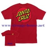 Santa Cruz Classic Dot T-Shirt Red / XXL