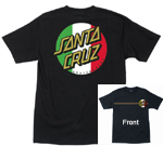 Santa Cruz Classico Dot T-Shirt - Black / Large