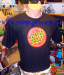 "Santa Cruz ""Cruz Dot"" T-Shirt - Large / Black"