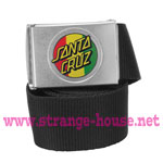 Santa Cruz Rasta Dot Web Belt - Black
