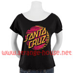 Santa Cruz Drift Dot Terry Dolman Girls Tee - Black / Large