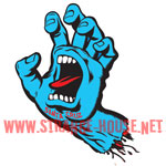 "Santa Cruz Screaming Hand 6"" Sticker / Clear Vinyl"