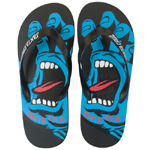 Santa Cruz Screaming Flip Flops Black / Size 10