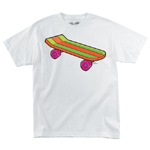 Santa Cruz Simpson's Bart Pro Model T-Shirt White Medium