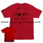 Santa Cruz Simpson's Bart Skull T-Shirt Red XL