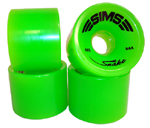 Sims Snakes 66mm / 84a Classic Green Wheels