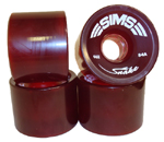 Sims Snakes 66mm / 84a Classic Red Wheels