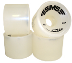 Sims Snakes 66mm / 84a Opaque White Wheels
