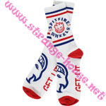 Spitfire Classic Bighead Socks / White, Red & Blue / 1 Pair