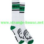 Spitfire Classic Striped Socks / Single Pair / White & Green