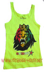 Stedmz Lion Face Tank Top / Neon Yellow - Large
