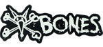 "Bones Vato Text 6"" Sticker Black w/ White Lettering"